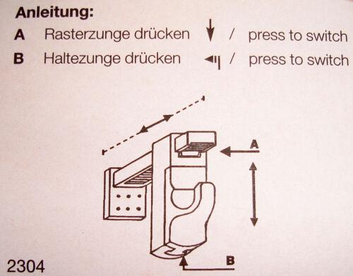 Halterung für Cafehausstangen Klemmträger für Gardinenstangen Klemmbefestigung