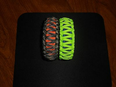 550 Paracord Survival Bracelet Cobra Yellow//Dayglow Camping Tactical Military