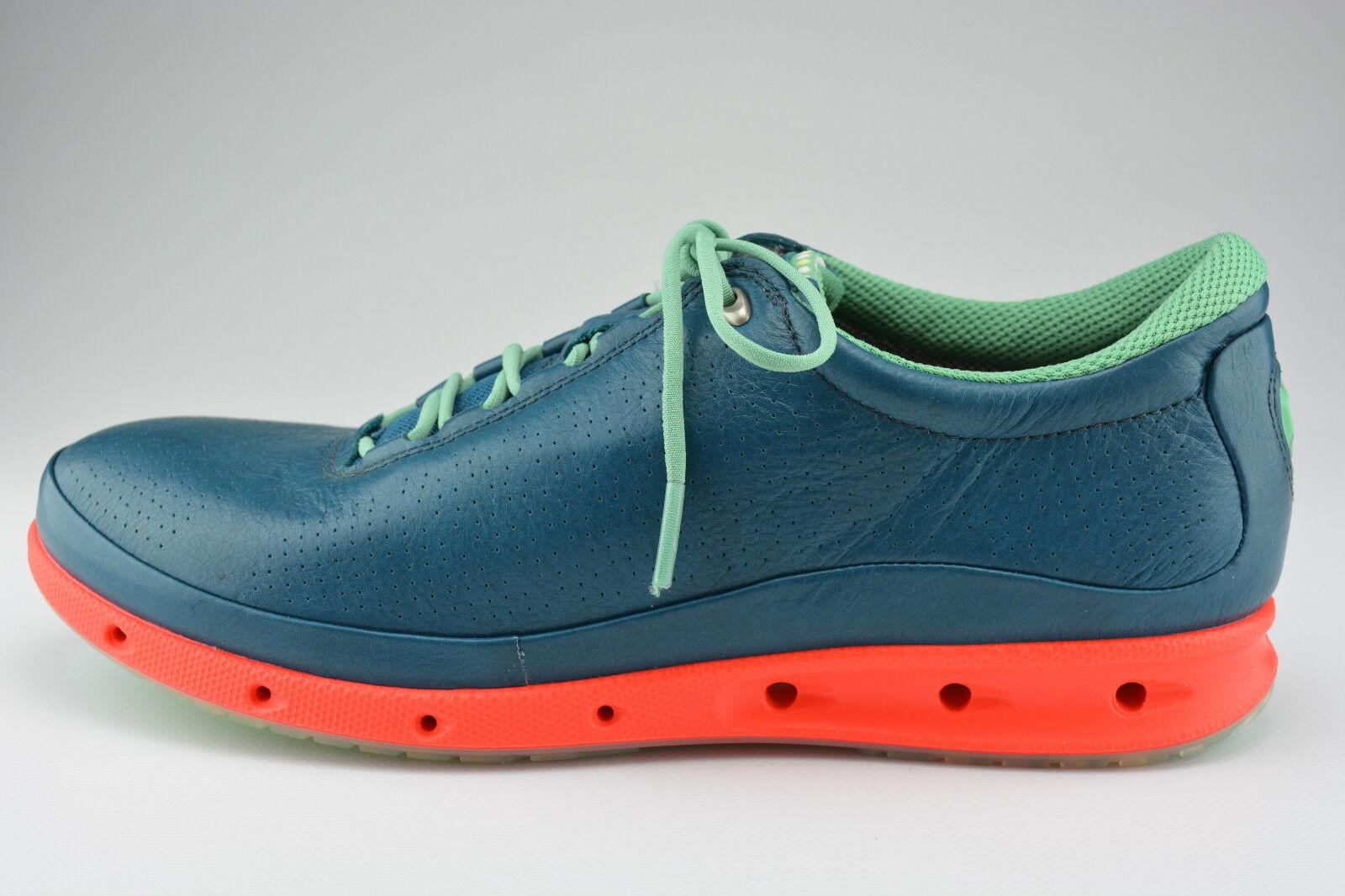 Ecco Schuhe Damen Schnürer COOL grün sea port Glattleder Gore Tex Surround