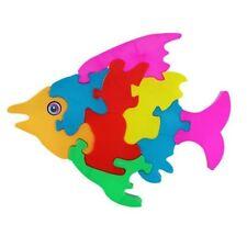 Bright Colour Fish Blocks Puzzle Baby Boys Girls  Educational Toy - 18m Plus