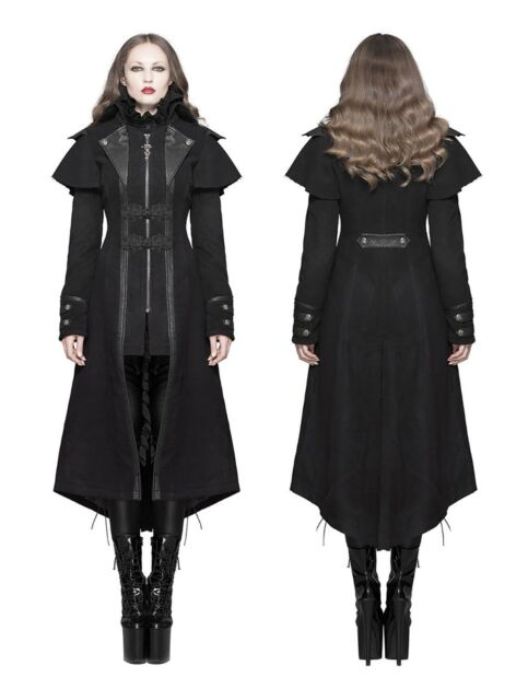 Devil Fashion Mantel Gothic Steampunk Coat Kutschermantel Visual kei LARP Punk