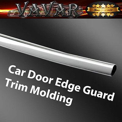 Chrome Silver 13Ft 390cm Car Door Edge Guard Moulding Trim Protector Strip DIY