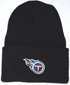8107793433362 NEW! Black NFL Tennessee Titans Cuffed Knit Beanie Winter Hat Marcus ...