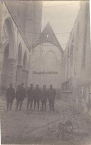 Francia Belgium Ruines Da La Grande Guerre WW1 Foto Vintage Verso 1919