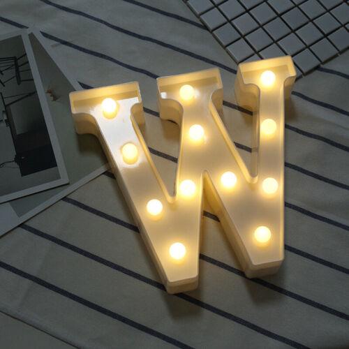 Warm White Light Valentine/'s Day Birthday Party Decoration Plastic Letter Lamp