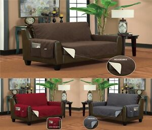 Image Is Loading Reversible Furniture Pet Protector With Side Pockets Sofa
