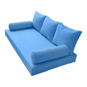 S3 Full Size 6pc Pipe Outdoor Daybed Matress Cushion Complete Set Ad102 Ebay