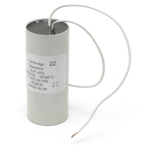 Cambridge Capacitors DX1XE 22uF 1500VDC 5/% Radial Capacitor