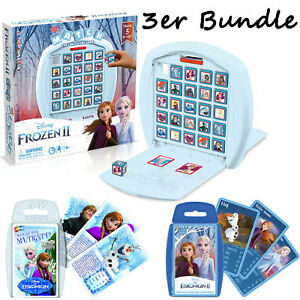 Frozen-Reine-des-Neiges-Ensemble-Match-Haut-Trumps-1-amp-2-Jeu-Jeu-de-Societe