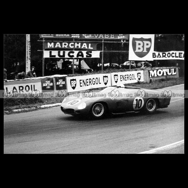 #pha.014389 Photo FERRARI 250 TRI-61 GENDEBIEN-HILL 24 HEURES DU MANS 1962 Auto