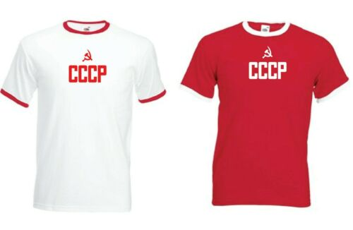VINTAGE RETRO SOVIET UNION RUSSIA EURO CCCP T-SHIRT