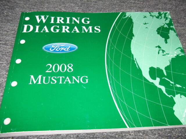 2008 Ford Mustang Electrical Wiring Diagrams Ewd Evtm Service Shop Manual 08