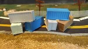 N-Scale-6-Unfinished-Small-Ribbed-Shipping-Containers-Model-Train-Detail