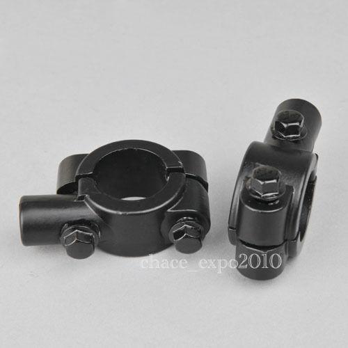 "Motorcycle RearView 7//8/"" Handle Bar Mirror Mount Holder Clamp Adaptor 8MM Thread"