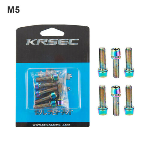 6 Pcs M5//M6*18mm Handlebar Stem Screws Road MTB Mountain Bike Bicycle Bolts Tool