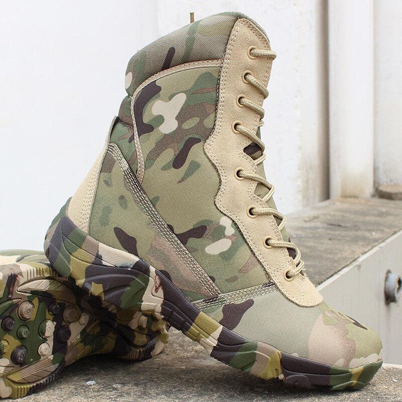 Herren Militär wasserdichte highTop Schuhe camo highTop wasserdichte Kampfstiefel Wandern/Trekking 8314b3