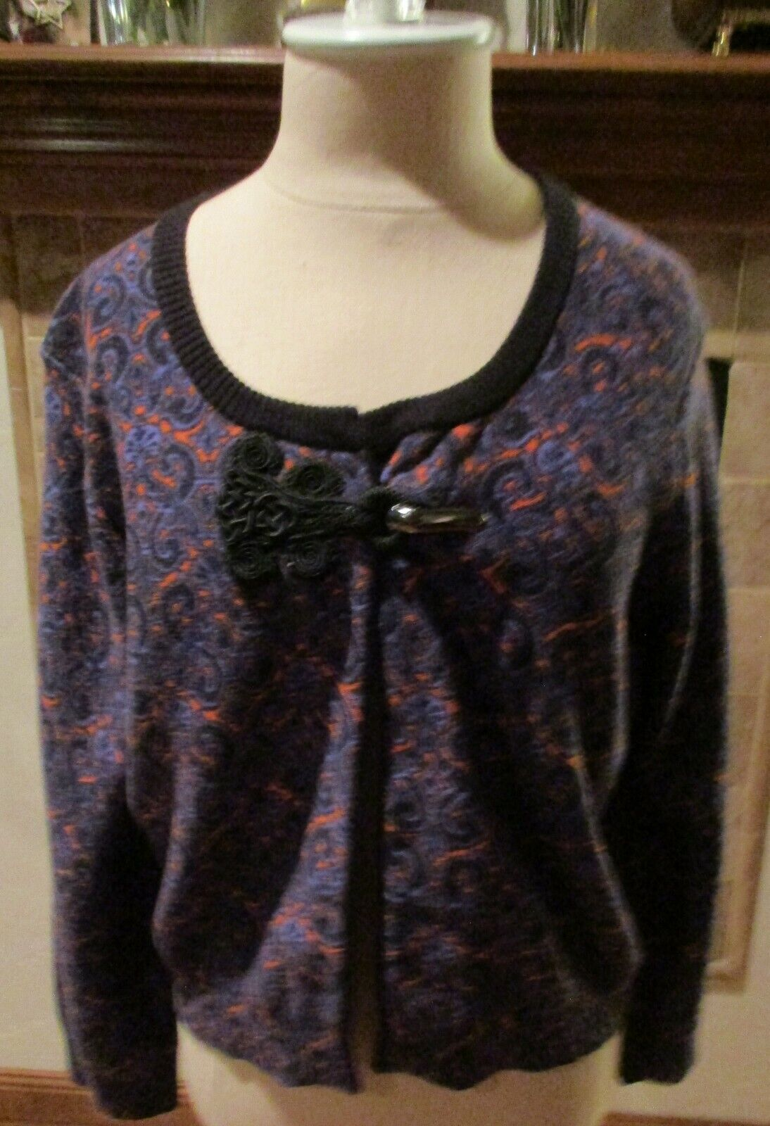 New Anthropologie Women Sweater Tracy Reese Printed Cardigan Size M