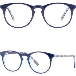 219982d6af Details about Womens Guy Girl Acetate Frame Spring Hinges Prescription  Glasses Round Navy Blue