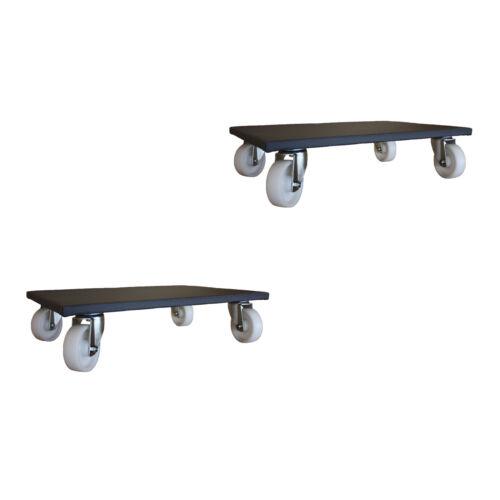 2 pièces mobilier Roller 600x600 mm Möbelhund transport Roller de 600 kg