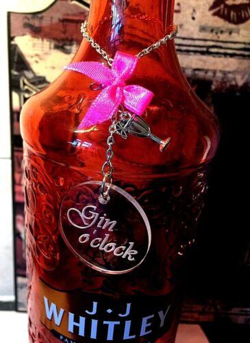 Gin O CLOCK Charm label//étiquette pour bouteille de Gin anniversaire//Thankyou Party Cadeau