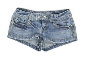 Womens-Topshop-Blue-Denim-Shorts-Size-8-L1