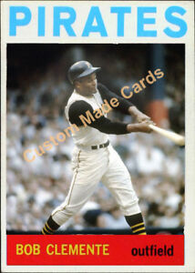 Details About Custom Made Topps 1964 Pittsburgh Pirates Roberto Clemente Baseball Card