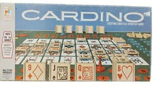 Vintage 1970 Cardino Board Game Milton Bradley - Complete