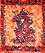 Indian Mandala Dragon Tapestry Cotton Sheet Hippie Gypsy Boho Beach Garden yoga