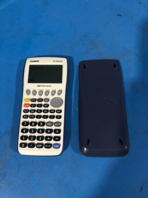 Casio fx-9750GII Blue and White Graphing Calculator  TESTED