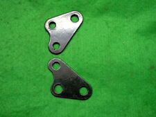 YAMAHA RD  400  RD400  GLOSS BLACK P/COATED PAIR REAR ENGINE MOUNTING PLATES