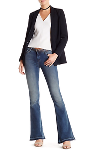 NWT J Brand Women's Mid Rise Sneaker Flare Jean Ashbury Size 27