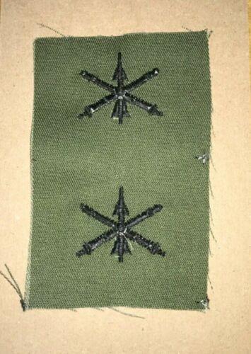 US ARMY OFFICER OD GREEN AIR DEFENSE ARTILLERY COLLAR INSIGNIA CAMO BDU SEW ON
