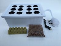 24 Plant Site Hydroponic Grow System Bubble Two 3 Gallon Tubs Dwc Cloner Kit
