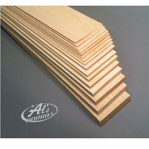 Balsa Wood Balsa Sheet 230mm Long 75mm Wide Choose Thickness