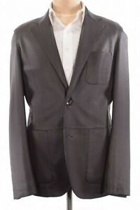 Ermenegildo-Zegna-NWOt-Genuine-Deerskin-Leather-Sport-Coat-Size-44R-Current