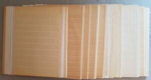 Steckseiten-Einsteckseiten-38-Stueck-weiss-9-12-Streifen-ungeteilt