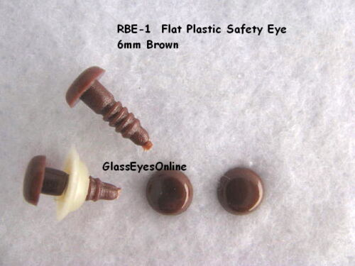 Sew Crochet RBE-1 20 PAIR 6mm or 8mm Safety Eyes No Pupil Doll Teddy bear