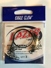 Eagle Claw Lazer Double Drop Drum//Snapper Rig Black 30 Inch 2 Pack