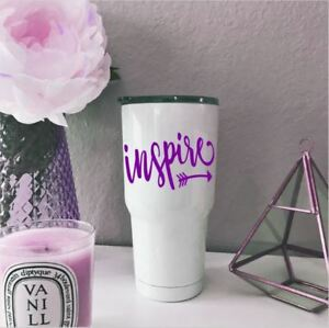 Personalized Arrow Heart Monogram Vinyl Decal For Your Cup Tumbler Rambler