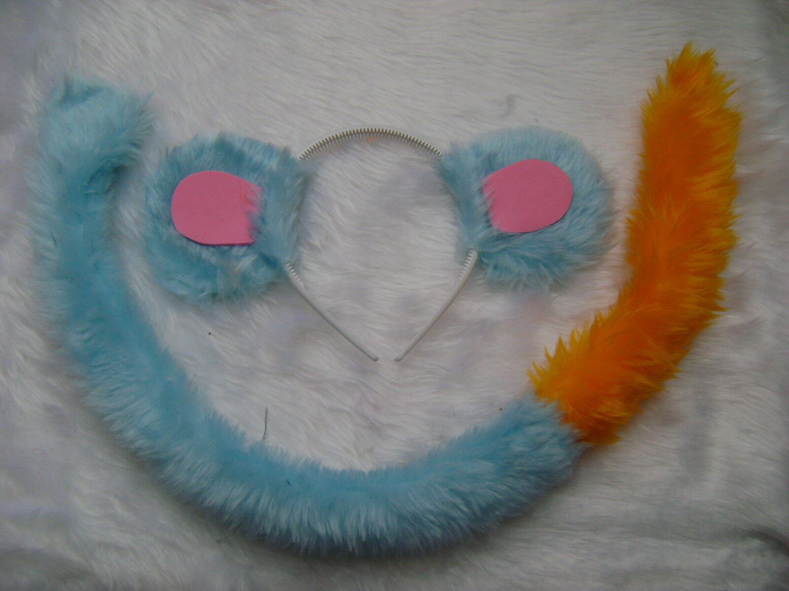 Horse Ears And Tail Faux Fur Fancy Dress Set My Little Pony Yellow Pony