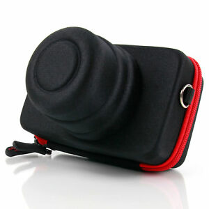 Negro-y-Rojo-camara-caso-para-Sony-A5000-Cybershot-HX60-amp-Alpha-RX100-camaras-III