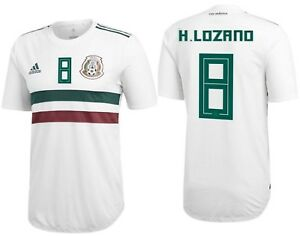 premium selection 65a4f 79025 Details about ADIDAS HIRVING LOZANO MEXICO AUTHENTIC MATCH AWAY PLAYER  JERSEY WORLD CUP 2018