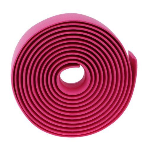2Pcs Einfarbig rutschfeste Schwamm Radfahren Fahrrad Griff Gurtband Lenkerbänder