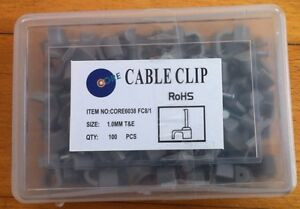 1000-X-CABLE-CLIPS-FOR-1mm-TWIN-amp-EARTH-6242Y-T-amp-E-10-X-100-BRAND-NEW-JOB-LOT
