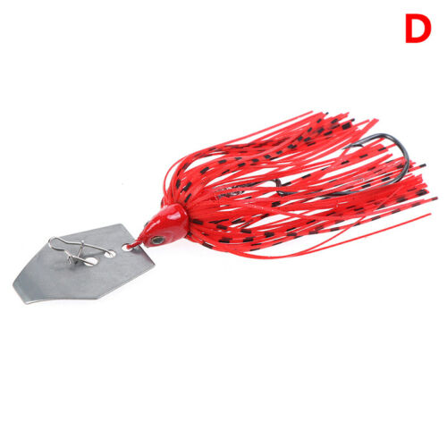 1pc 11g Chatterbait Blade Bait with Rubber Skirt buzzbait Fishing Lures Tackl PT