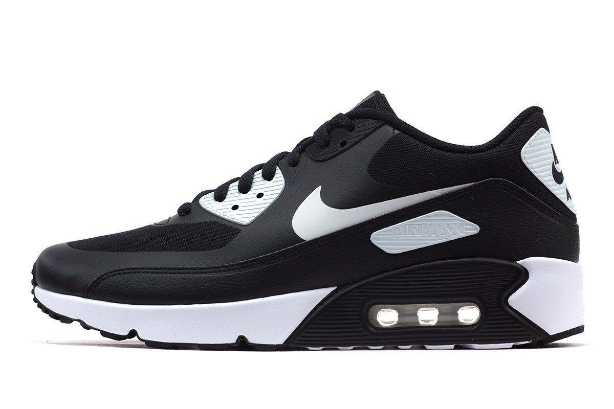 Nike air max 90 ultra 2.0    wesentliche schwarz Weiß-Weiß männer schuhe 875695-008 10.