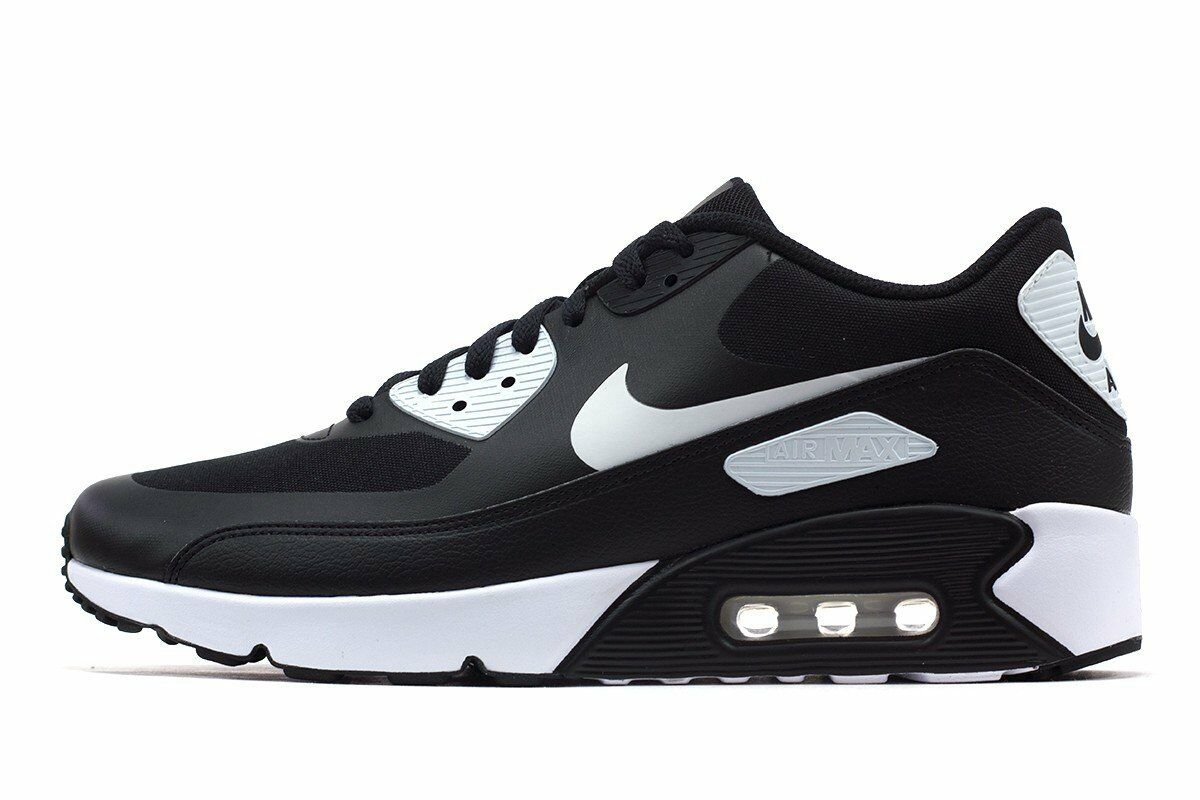 NIKE AIR MAX 90 ULTRA 2.0ESSENTIAL BLACK WHITE-WHITE Men Shoes 875695-008 10'