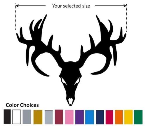 Deer Antlers Rack Vinyl Decal Hunting Buck skull Car Window sticker NonTypical