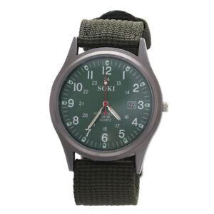 1X-SOKI-Reloj-de-pulsera-de-banda-de-tela-tejida-del-ejercito-Militar-verd-S2C3