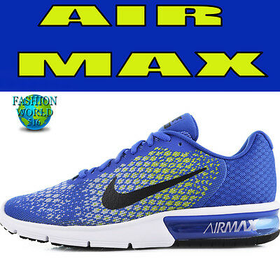 Nike Mens Size 10 Air Max Sequent 2 II Mens Running Shoes 852461 401 BlueYellow 883153259071 | eBay